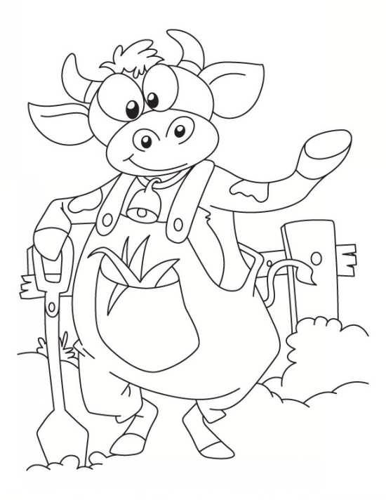 نقاشی دوست داشتنی گاو
