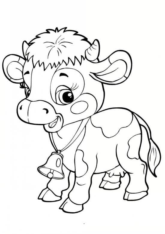 نقاشی گاو کوچک