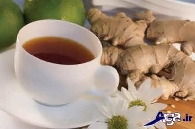 چای بابونه و درمان معده درد