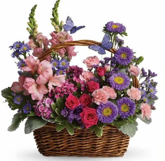 عکس سبد گل برای پروفایل