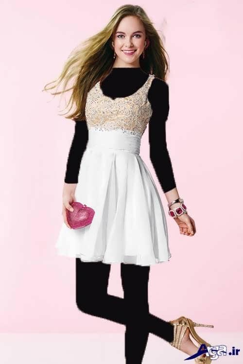 مدل پیراهن کوتاه دخترانه با جدیدترین طرح های مد سال