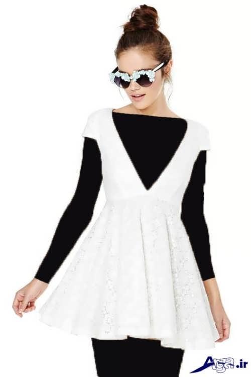مدل لباس مجلسی سفید