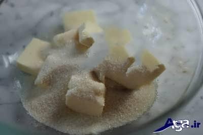 مخلوط کردن کره با شکر