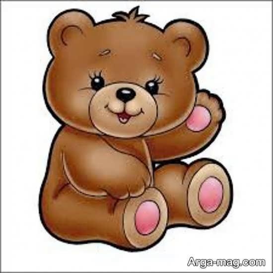 رنگ آمیزی حیوان خرس