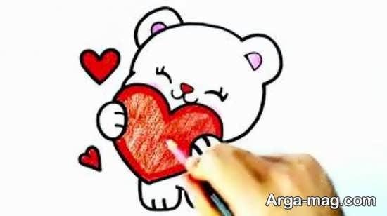 طراحی خرس کارتونی برای بچه ها
