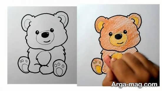 رنگ آمیزی حیوان خرس برای کودکان