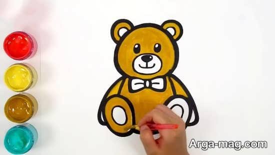 رنگ آمیزی زیبای حیوان خرس