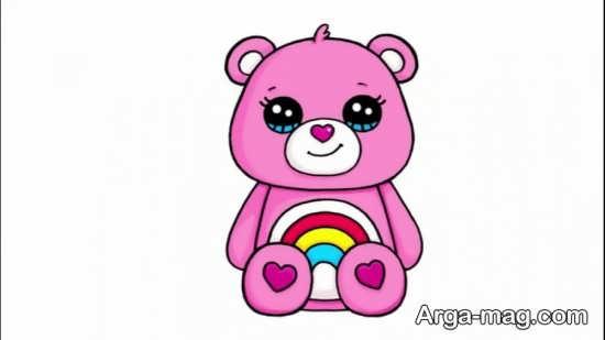 رنگ آمیزی ساده حیوان خرس