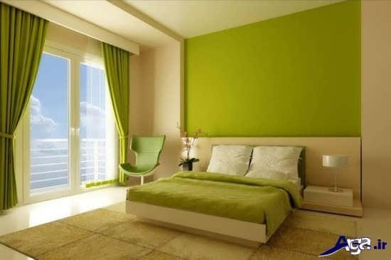 طراحی دکوراسیون اتاق خواب سبز
