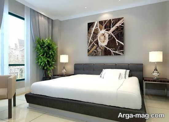 دیزاین اتاق خواب با طرح شیک
