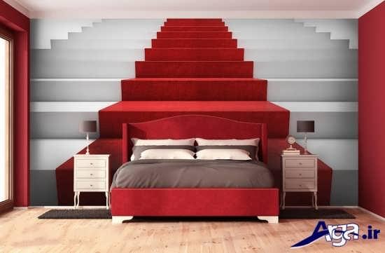 کاغذدیواری سه بعدی برای اتاق خواب