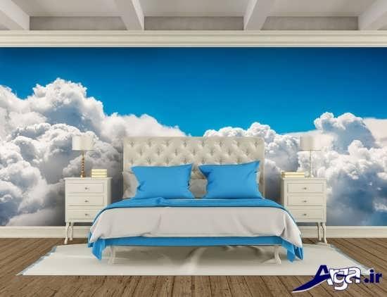 کاغذ دیواری با طرح ابر و آسمان
