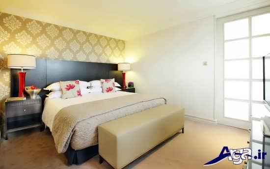 کغذ دیواری با طرح ساده برای اتاق خواب