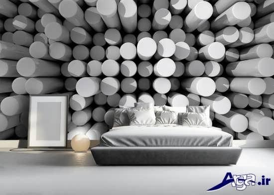 کاغذ دیواری سه بعدی برای اتاق خواب
