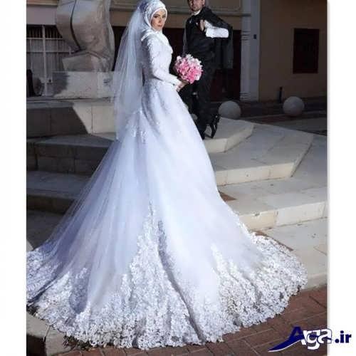 مدل لباس عروس دنباله دار