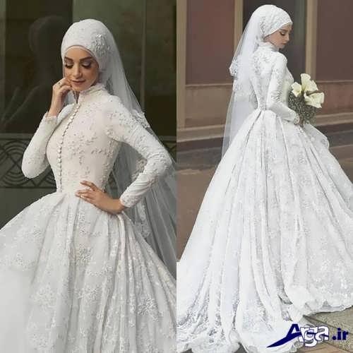 انواع طرح های لباس عروس پوشیده