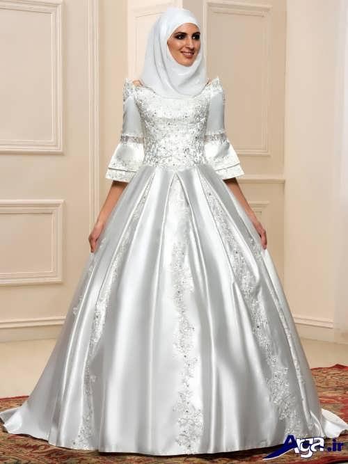 مدل لباس عروس پفی پوشیده