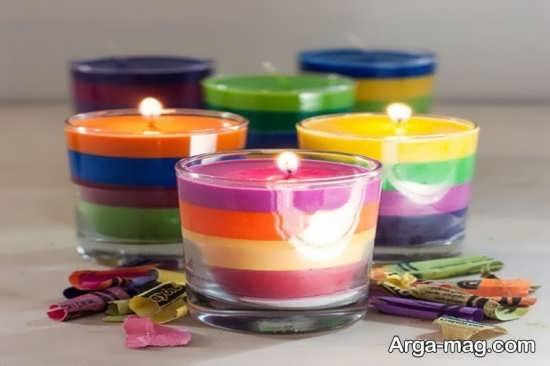 آموزش ساخت شمع چندرنگ
