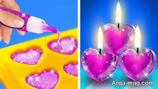 آموزش ساخت شمع قلبی