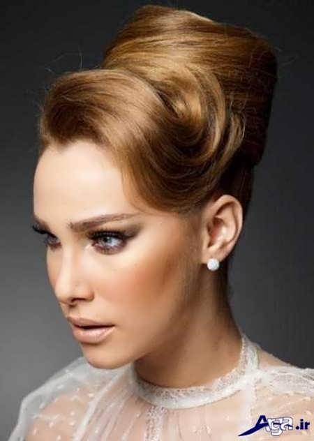 مدل آرایش موی خامه ای عروس
