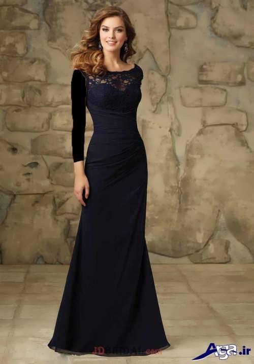 لباس مجلسی با طرح بلند