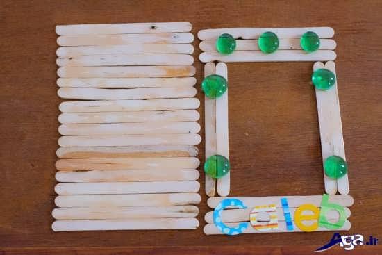 کاردستی قاب عکس با چوب