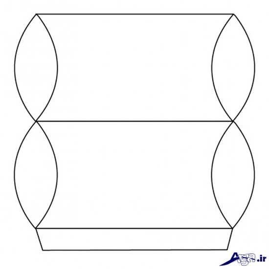 الگوی ساخت جعبه کادویی