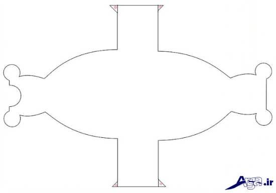 الگوی ساخت جعبه کادویی ساده