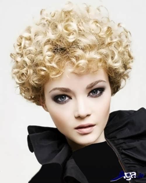 مدل موی فر کوتاه دخترانه