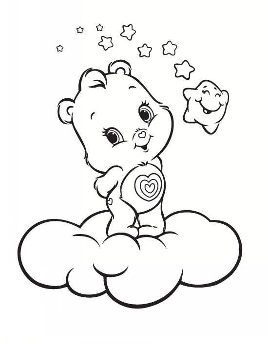 نقاشی ابر و خرس