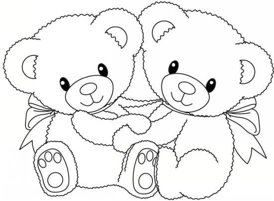 نقاشی دو خرس زیبا