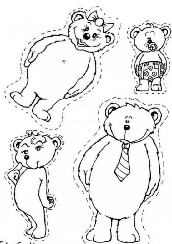 نقاشی های خرس های بامزه