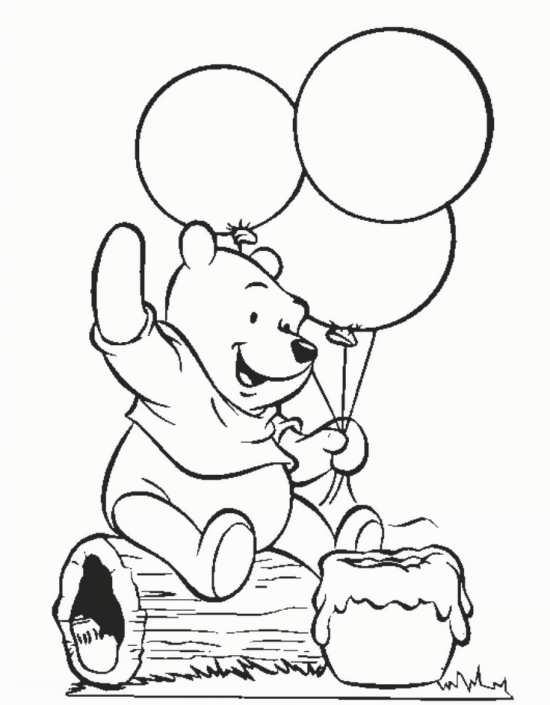 نقاشی خرس و بادکنک