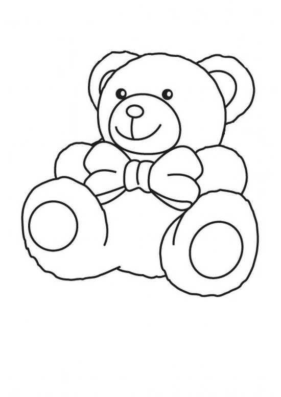 نقاشی از خرس با پاپیون
