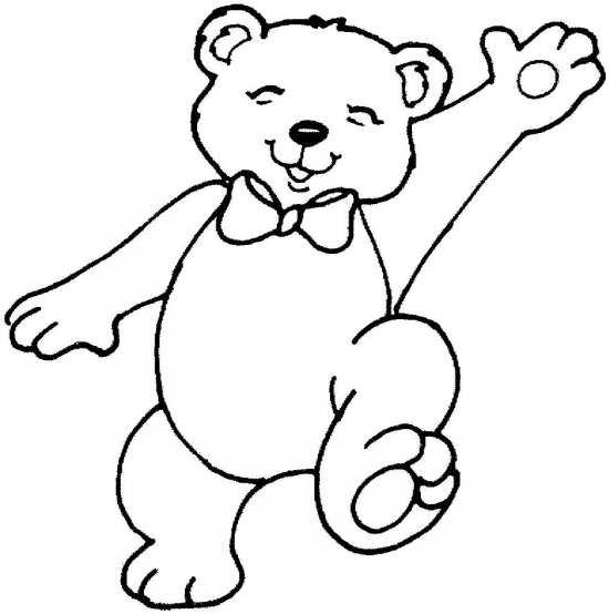 نقاشی از خرس در حال فرار