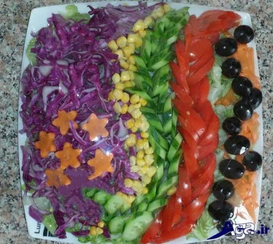 تزیین سالاد با هویج