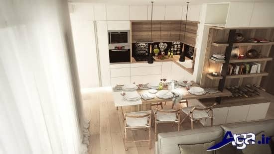 طراحی دکوراسیون زیبا برای آشپزخانه