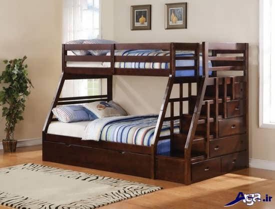 تخت خواب ساده دو طبقه