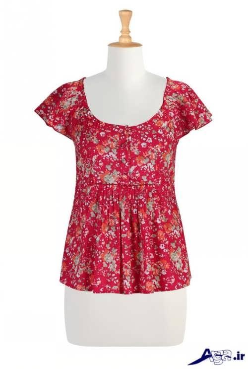 مدل لباس نخی گلدار