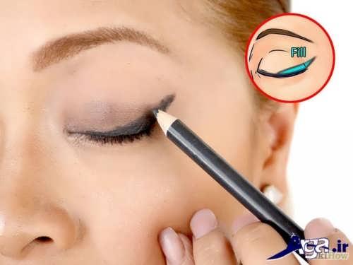 کشیدن خط چشم مدادی