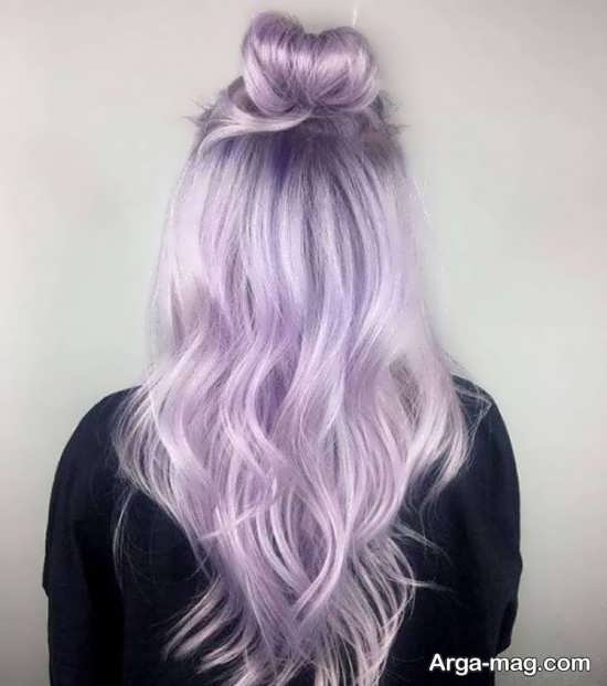 رنگ مو فانتزی یاسی