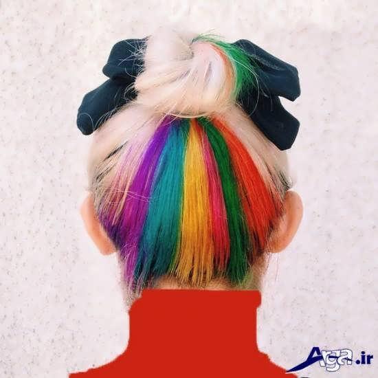 رنگ موهای مداد رنگی فانتزی