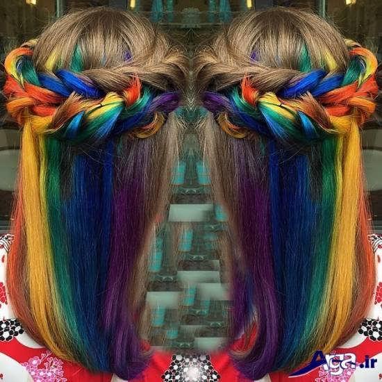 رنگ موهای چند رنگی فانتزی