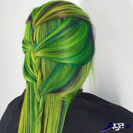 انواع متنوع رنگ موهای فانتزی