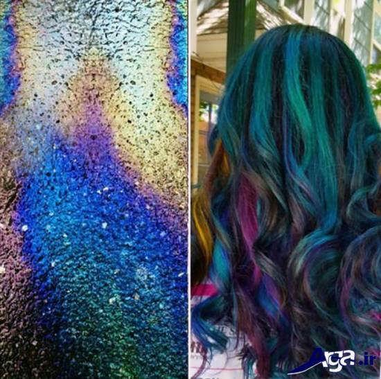 رنگ موی متفاوت فانتزی