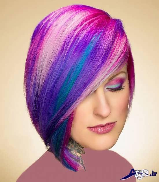 رنگ موی متفاوت و زیبا فانتزی