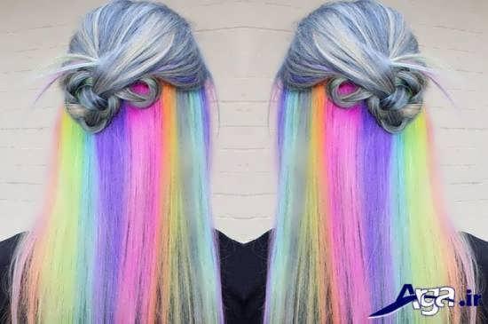 مدل های رنگ موهای فانتزی