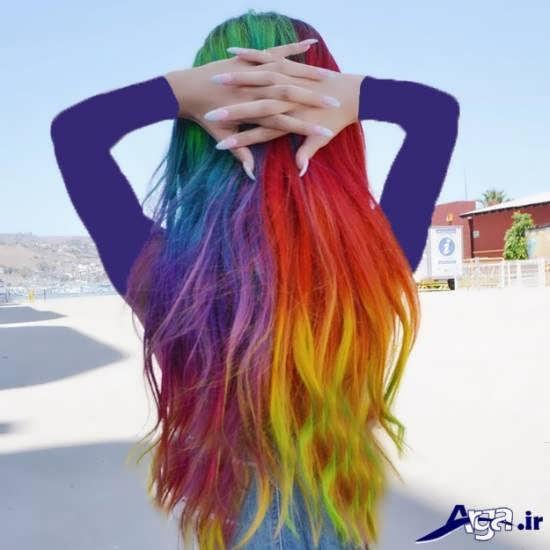 رنگ موی شیک و جذاب فانتزی