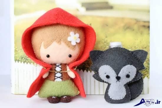 عروسک شنل قرمزی با نمد