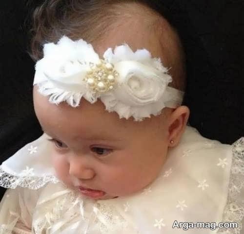 مدل گل سر برای نوزاد